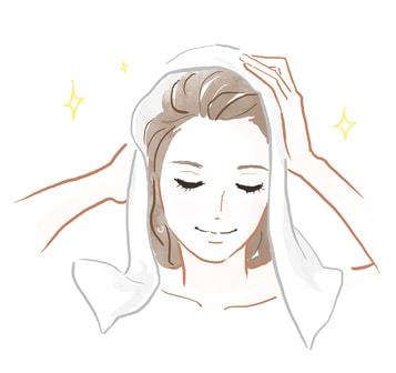タオル 髪 乾かす